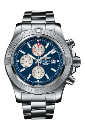 Мужские часы super avenger ii BREITLING синего цвета, арт. A13371111C1A1 | Фото 1