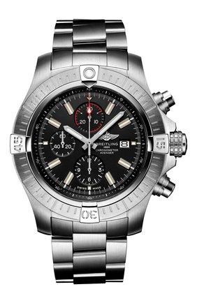 Мужские часы super avenger chronograph 48 BREITLING черного цвета, арт. A13375101B1A1 | Фото 1