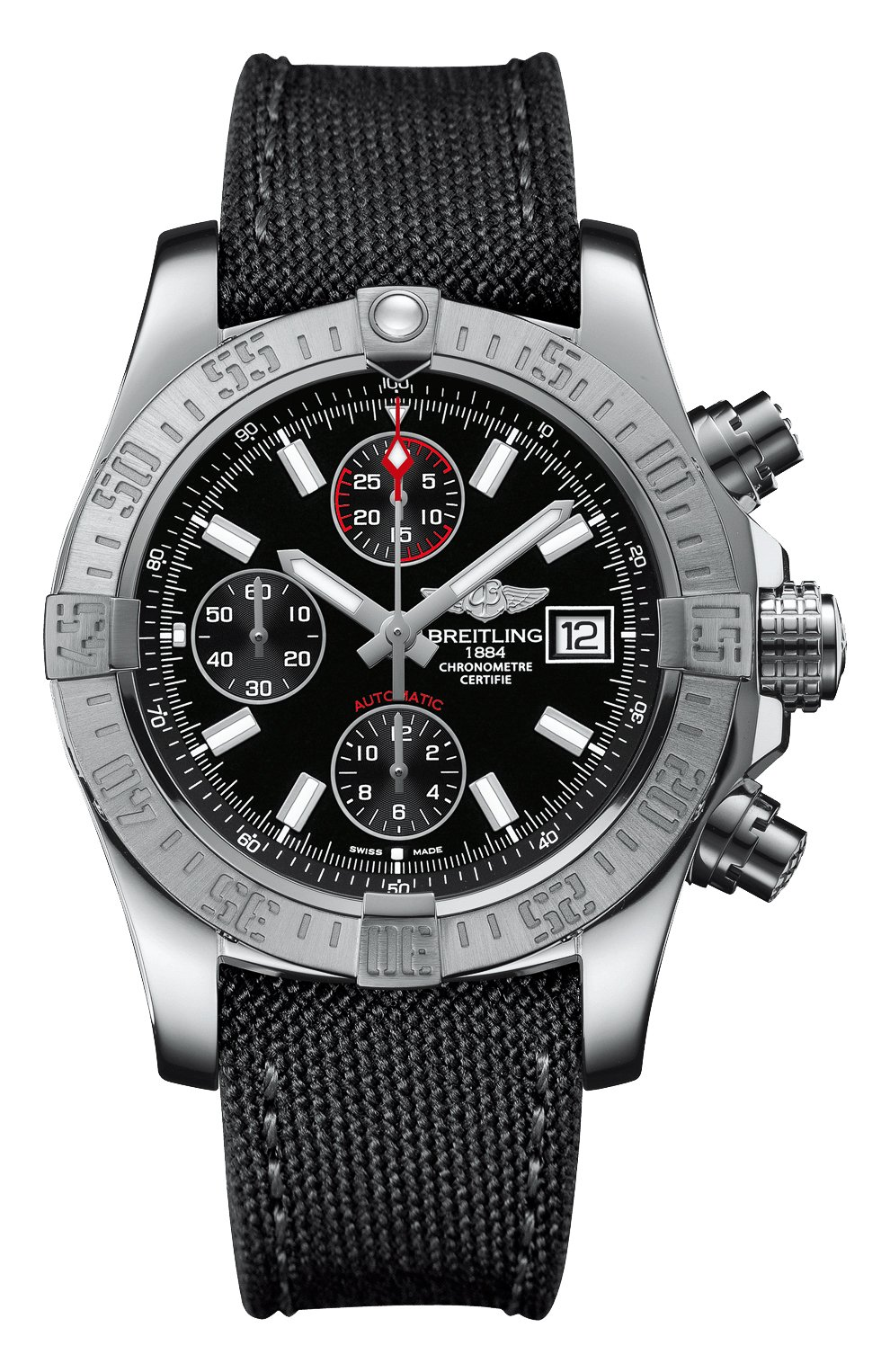 Мужские часы avenger ii BREITLING черного цвета, арт. A13381111B1W1   Фото 1