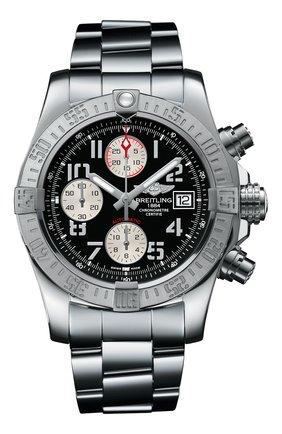 Мужские часы avenger ii steel black BREITLING черного цвета, арт. A13381111B2A1 | Фото 1