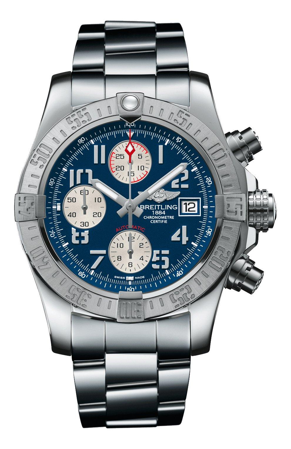 Мужские часы avenger ii steel blue BREITLING синего цвета, арт. A13381111C1A1 | Фото 1