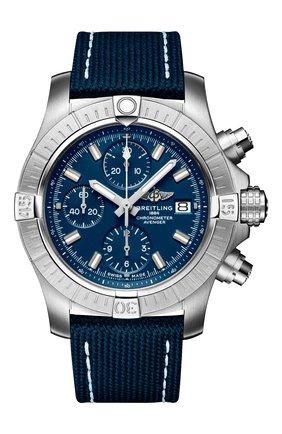 Мужские часы avenger chronograph 43 BREITLING синего цвета, арт. A13385101C1X1 | Фото 1