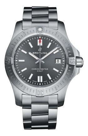 Мужские часы colt 41 automatic BREITLING серебряного цвета, арт. A17313101F1A1 | Фото 1