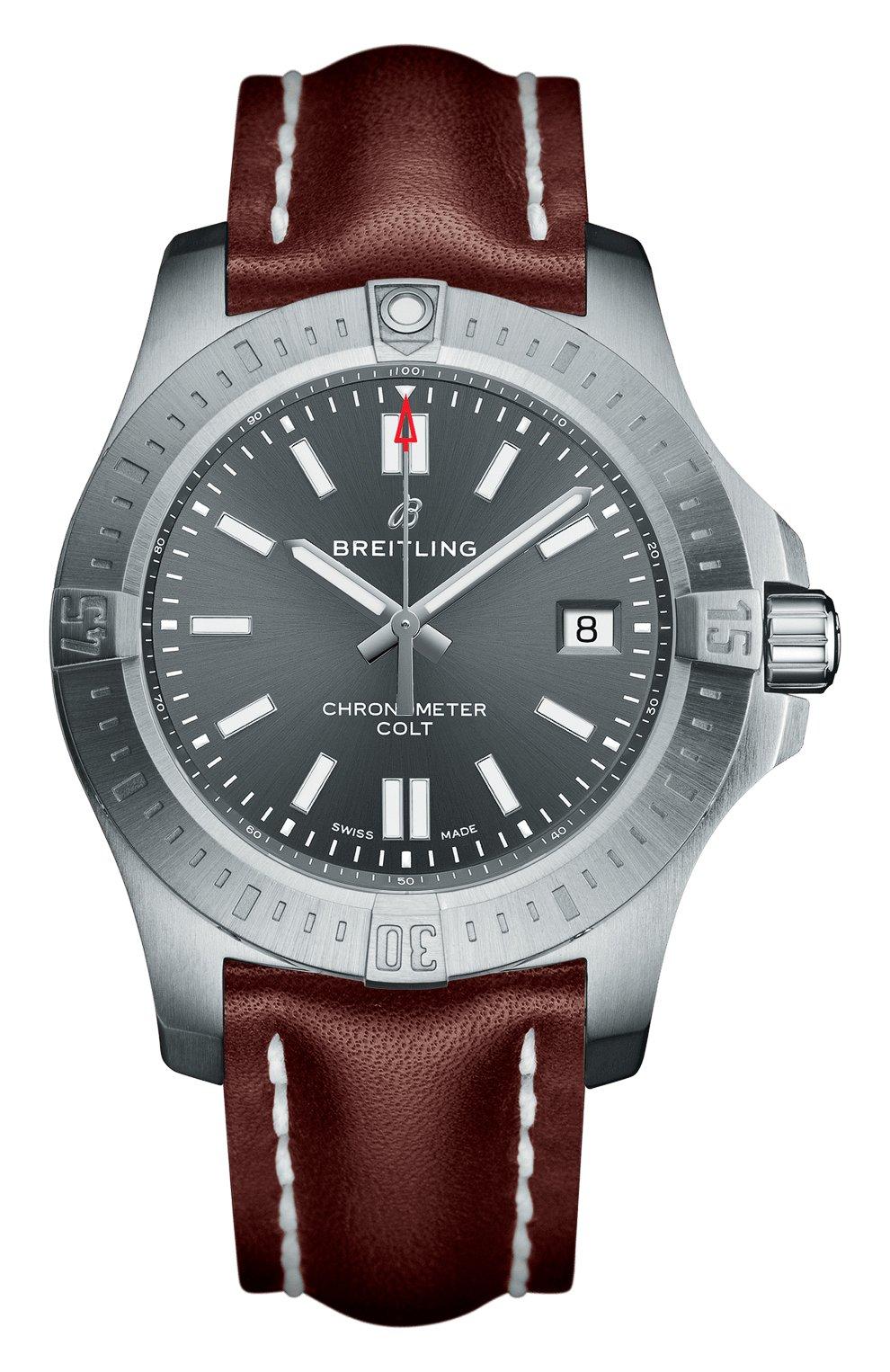 Мужские часы colt 41 automatic BREITLING серебряного цвета, арт. A17313101F1X2 | Фото 1