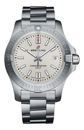 Мужские часы colt 41 automatic BREITLING серебряного цвета, арт. A17313101G1A1 | Фото 1