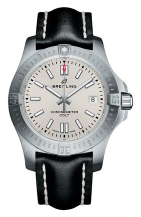 Мужские часы top range 2018 colt 41 automatic BREITLING серебряного цвета, арт. A17313101G1X1 | Фото 1