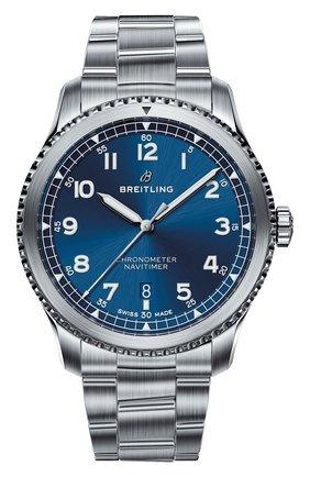 Мужские часы navitimer 8 automatic 41 BREITLING синего цвета, арт. A17314101C1A1 | Фото 1