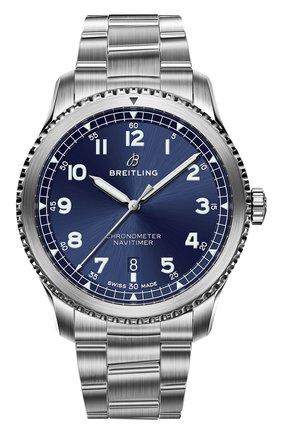 Мужские часы aviator 8 automatic BREITLING синего цвета, арт. A17315101C1A1 | Фото 1