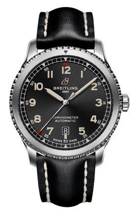 Мужские часы aviator 8 BREITLING черного цвета, арт. A17315101В1Х1 | Фото 1