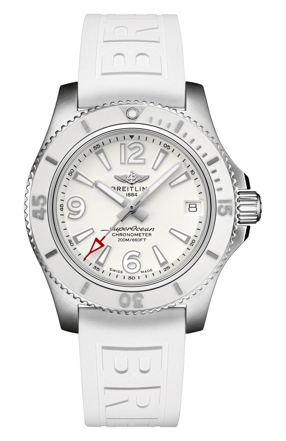 Женские часы superocean automatic 36 BREITLING белого цвета, арт. A17316D21A1S1 | Фото 1
