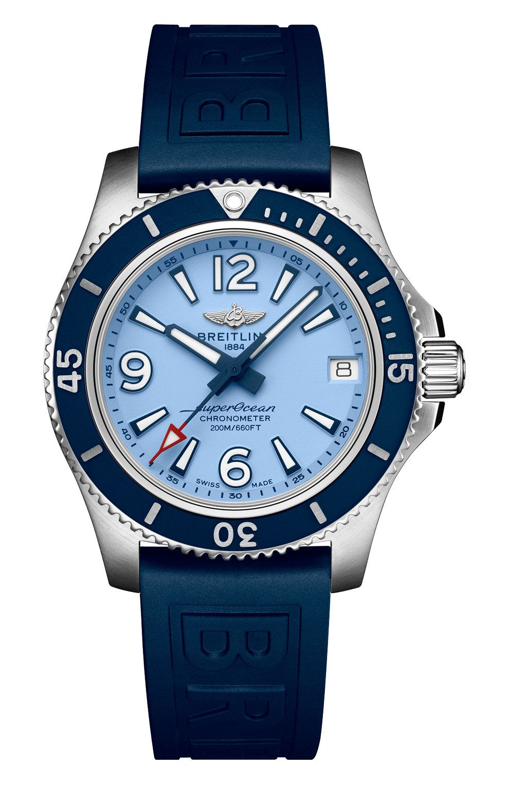 Женские часы superocean automatic 36 BREITLING синего цвета, арт. A17316D81C1S1 | Фото 1