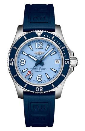 Женские часы superocean automatic 36 BREITLING синего цвета, арт. A17316D81C1S1   Фото 1