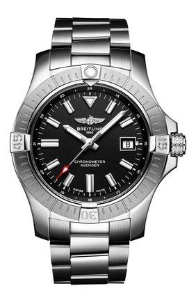 Мужские часы avenger automatic 43 BREITLING черного цвета, арт. A17318101B1A1   Фото 1