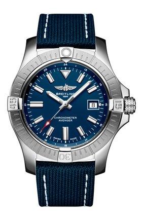 Мужские часы avenger automatic 43 BREITLING синего цвета, арт. A17318101C1X1 | Фото 1