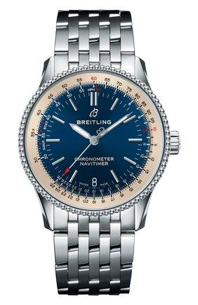 Женские часы navitimer 1 automatic 38 BREITLING синего цвета, арт. A17325211C1A1   Фото 1
