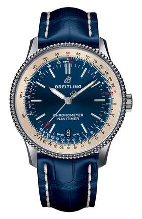 Женские часы navitimer 1 automatic 38 BREITLING синего цвета, арт. A17325211C1P1   Фото 1