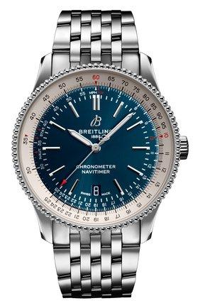 Мужские часы navitimer 1 automatic 41 BREITLING синего цвета, арт. A17326211C1A1 | Фото 1