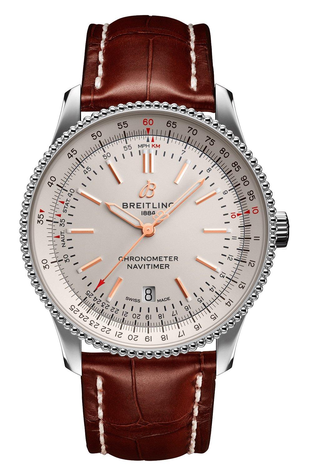 Мужские часы navitimer 1 automatic 41 BREITLING белого цвета, арт. A17326211G1P1 | Фото 1