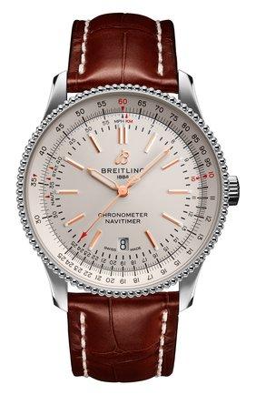 Мужские часы navitimer 1 automatic 41 BREITLING бесцветного цвета, арт. A17326211G1P1 | Фото 1 (Механизм: Автомат; Материал корпуса: Сталь; Цвет циферблата: Белый)