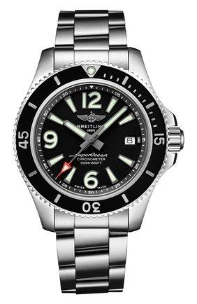 Мужские часы superocean automatic 42 BREITLING черного цвета, арт. A17366021B1A1   Фото 1