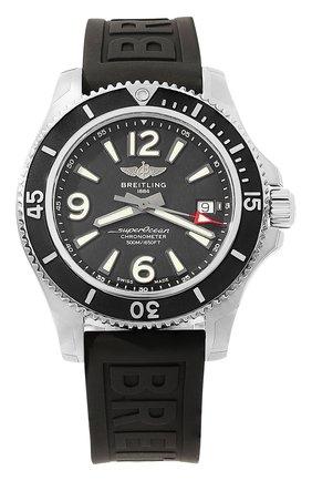 Мужские часы superocean automatic 42 BREITLING черного цвета, арт. A17366021B1S2 | Фото 1