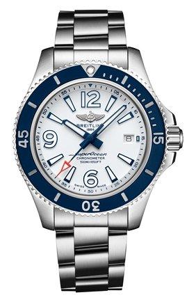 Мужские часы superocean automatic 42 BREITLING белого цвета, арт. A17366D81A1A1 | Фото 1