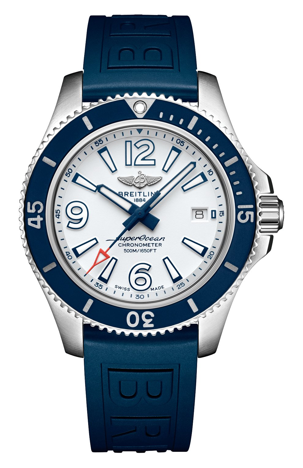 Мужские часы superocean automatic 42 BREITLING бесцветного цвета, арт. A17366D81A1S2 | Фото 1 (Механизм: Автомат; Материал корпуса: Сталь; Цвет циферблата: Белый)