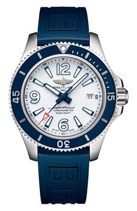 Мужские часы superocean automatic 42 BREITLING белого цвета, арт. A17366D81A1S2 | Фото 1