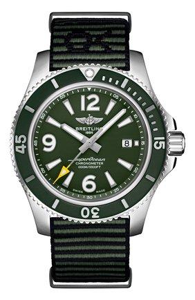 Мужские часы superocean ii automatic BREITLING зеленого цвета, арт. A17367A11L1W1 | Фото 1