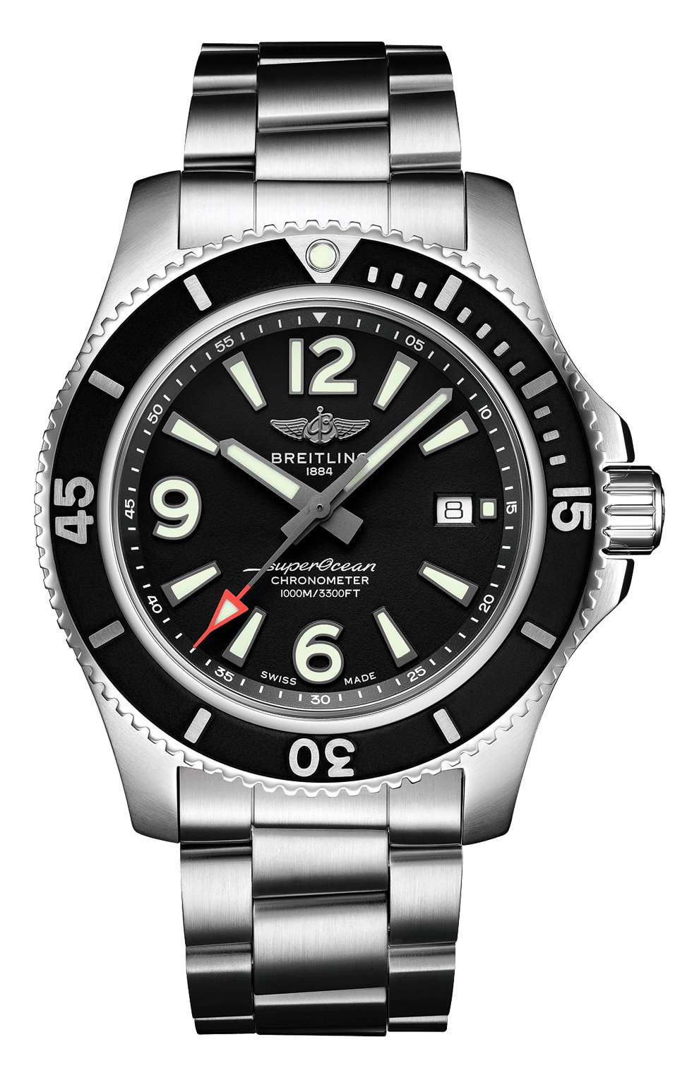 Мужские часы superocean automatic 44 BREITLING черного цвета, арт. A17367D71B1A1   Фото 1