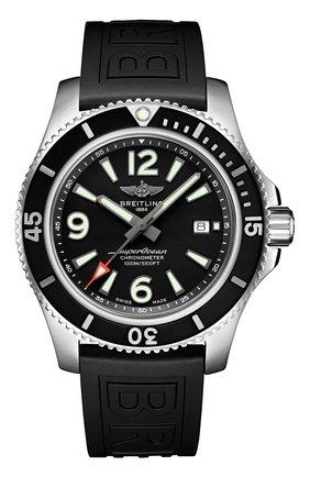 Мужские часы superocean automatic 44 BREITLING черного цвета, арт. A17367D71B1S2 | Фото 1