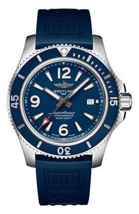 Мужские часы superocean automatic 44 BREITLING синего цвета, арт. A17367D81C1S2 | Фото 1