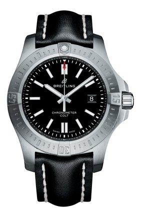 Мужские часы colt 44 automatic BREITLING черного цвета, арт. A17388101B1X1 | Фото 1