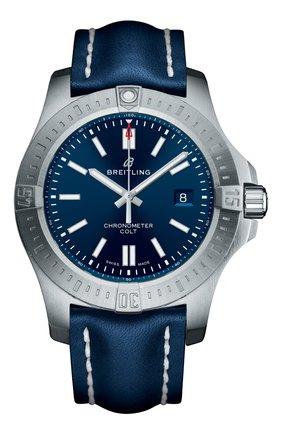 Мужские часы top range 2018 colt 44 automatic BREITLING синего цвета, арт. A17388101C1X1 | Фото 1