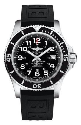 Мужские часы superocean ii 44 BREITLING черного цвета, арт. A17392D71B1S2   Фото 1