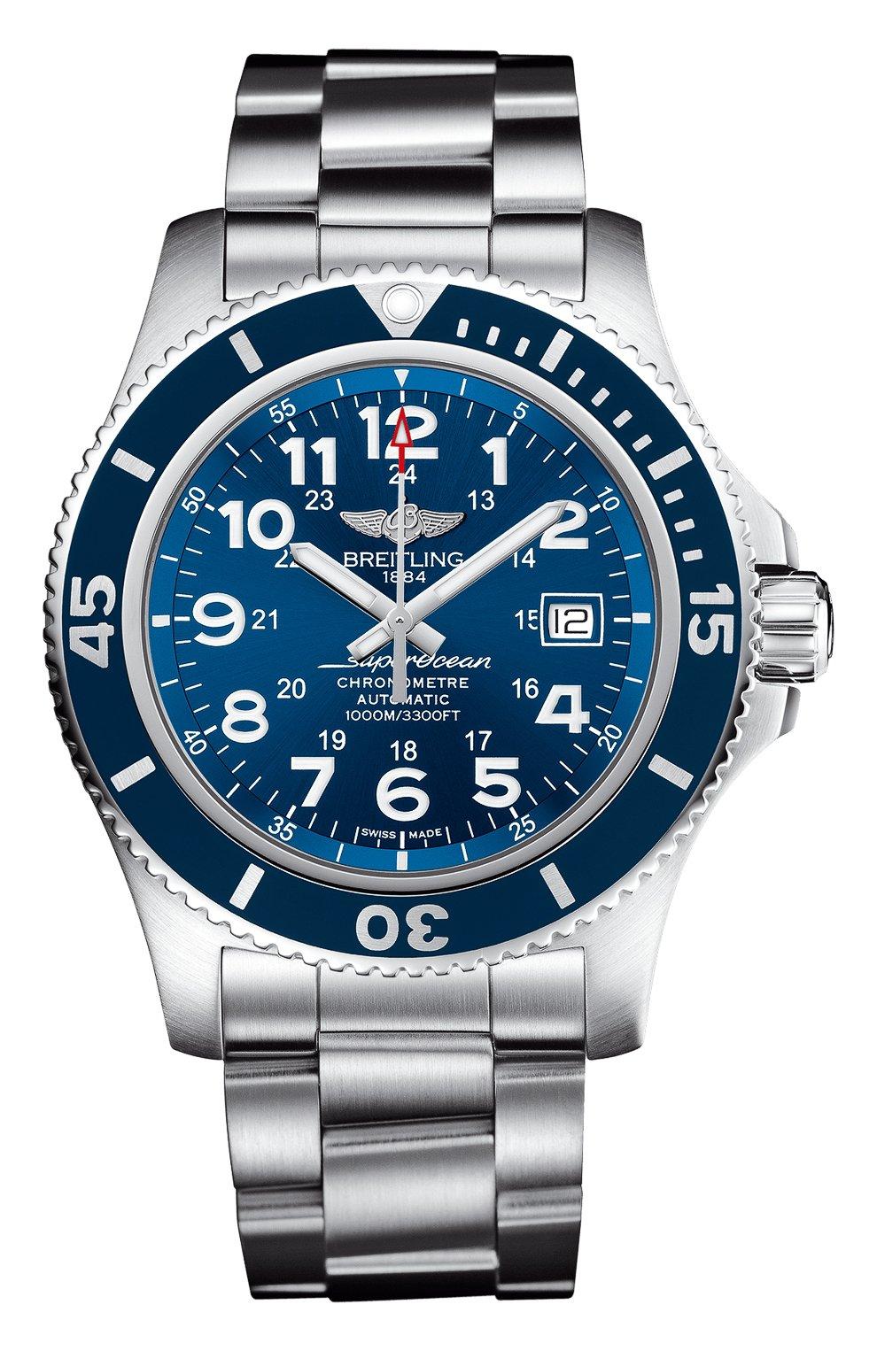 Мужские часы superocean ii 44 BREITLING синего цвета, арт. A17392D81C1A1   Фото 1