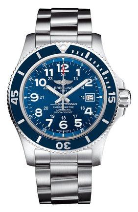 Мужские часы superocean ii 44 BREITLING синего цвета, арт. A17392D81C1A1 | Фото 1