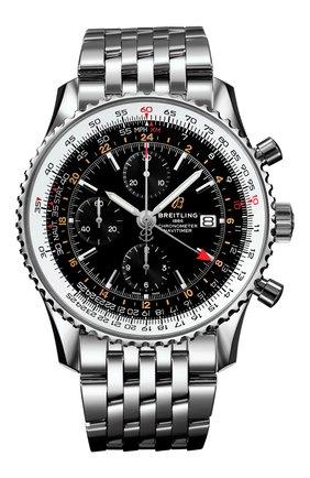Мужские часы navitimer 1 chronograph gmt 46 BREITLING черного цвета, арт. A24322121B2A1   Фото 1