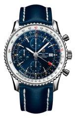 Мужские часы navitimer 1 chronograph gmt 46 BREITLING бесцветного цвета, арт. A24322121C2X1 | Фото 1
