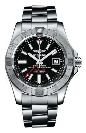 Мужские часы gmt steel black BREITLING черного цвета, арт. A32390111B1A1   Фото 1