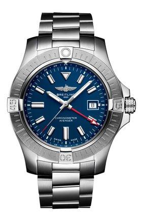 Мужские часы avenger ii gmt BREITLING синего цвета, арт. A32395101C1A1 | Фото 1