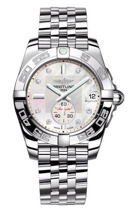 Женские часы galactic 36 automatic BREITLING перламутрового цвета, арт. A37330121A1A1 | Фото 1