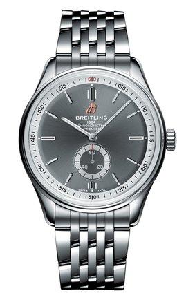 Мужские часы premier automatic 40 BREITLING серебряного цвета, арт. A37340351B1A1 | Фото 1