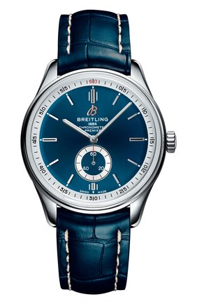 Мужские часы premier automatic 40 BREITLING синего цвета, арт. A37340351C1P1 | Фото 1