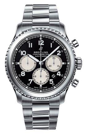 Мужские часы navitimer 8 b01 BREITLING черного цвета, арт. AB0117131B1A1 | Фото 1