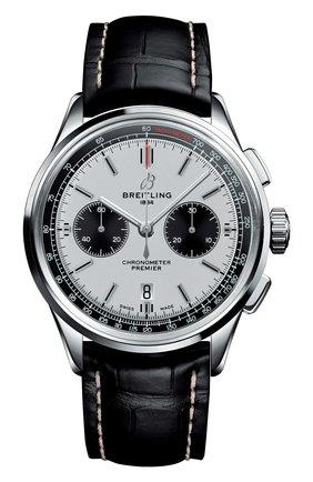 Мужские часы premier b01 chronograph BREITLING серебряного цвета, арт. AB0118221G1P2 | Фото 1