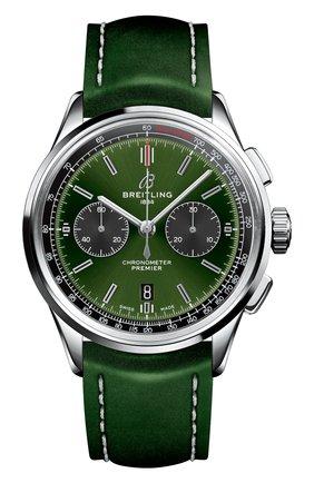 Мужские часы premier b01 chronograph 42 bentley BREITLING зеленого цвета, арт. AB0118A11L1X1 | Фото 1