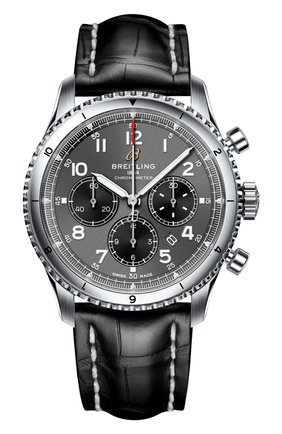 Мужские часы aviator 8 b01 chronograph 43 BREITLING серого цвета, арт. AB0119131B1P2 | Фото 1