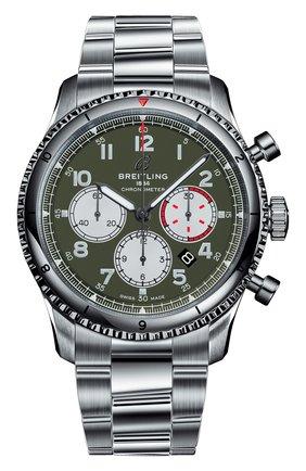 Мужские часы aviator 8 b01 chtonograph curtiss warhawk BREITLING зеленого цвета, арт. AB01192A1L1A1 | Фото 1