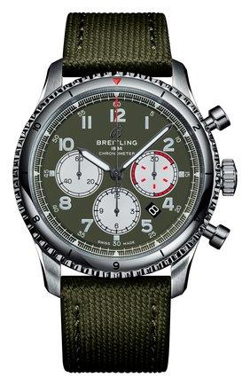 Мужские часы aviator 8 b01 chronograph 43 curtiss warhawk BREITLING зеленого цвета, арт. AB01192A1L1X2 | Фото 1